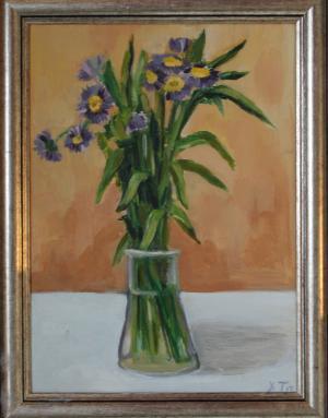 Blue flowers / Синчец 40 лв